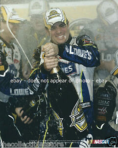 JIMMIE JOHNSON LOWES NASCAR NEXTEL CUP SERIES CHASE CHAMPION 8 X 10 PHOTO #01