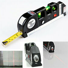 3 in 1 Laser Level Aligner Horizon Vertical Cross Line Measure Tape Ruler Spirit
