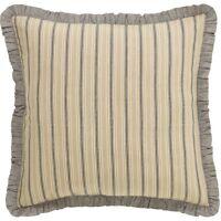 SAWYER MILL Fabric Euro Sham Creme/Grey Grain Sack Stripe Farmhouse VHC Brands