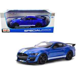 Maisto 1:8 Ford Mustang Shelby GT500 2020 Diecast Toy Car Special Edition Blue