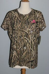 New Ladies MOSSY OAK Shadow Grass Blades Shirt Womens S M L 2XL Camo Hunting Top