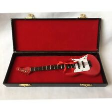 Collectable Miniature Electric Guitar With Leather Original Box