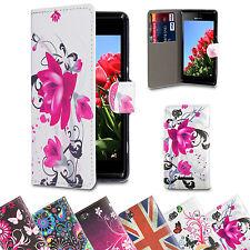Custodie portafoglio in pelle sintetica per cellulari e palmari Sony Ericsson