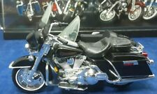 Harley Davidson With Side Car 1:18 Scale Diecast Model Black By Maisto