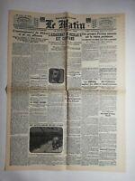 N785 La Une Du Journal Le Matin 28 juin 1918 l'assassinat de Nicolas II confirmé