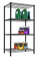 Home Basics NEW 4 Tier wire shelving storage unit 46 in Black - WS00694