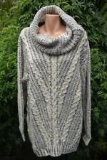 Acrylic Winter Cowl Neck Jumpers & Cardigans for Women