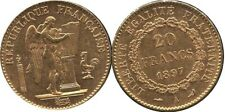 1897-A France 20 Franc Gold Coin LUCKY ANGEL Coin Excellent Detail 1897