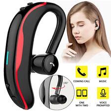 Women Men Business Bluetooth Earpiece Stereo Headset w/ Mic for Lg iPhone Nokia