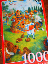 THE QUEENS CROQUET Jigsaw PUZZLE Book Collectors Box 1000 pc Master Pieces