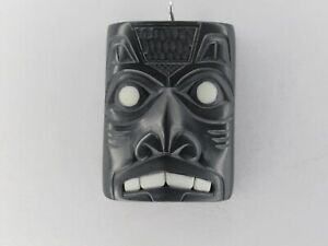Northwest Coast Native Art (Haida) Argillite Wolf Pendant