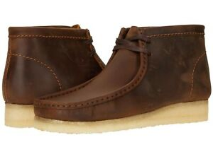 Men's Shoes Clarks Originals WALLABEE BOOTS Leather Moccasin 55513 BEESWAX