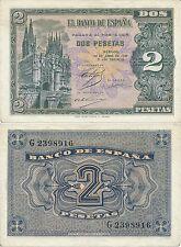 Espagne - Billets Etat Espagnol- Année: 1938 - numéro 00449 - 2 pta. abril S