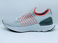 Nike React Phantom Run Flyknit 2 Gray Orange White Men's Size 9.5 New CJ0277-007