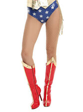 HALLOWEEN COSTUME NUDE MEDIUM NET FISHNET TIGHTS FOR WONDER WOMAN BY HOT TOPIC