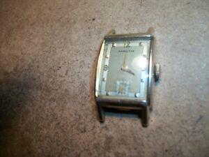 Vintage HAMILTON 982  19 jewels watch 14k GOLD FILLED wristwatch wind up WORKS