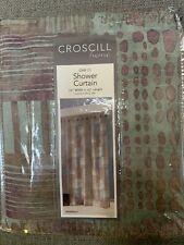 Croscill Shower Fabric Curtain 'Minerale' Multi