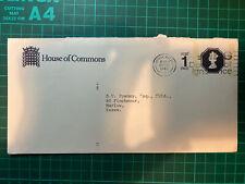 House Of Commons Uk Franked Envelope 1988