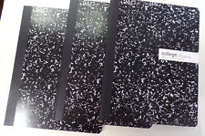 COLLEGE RULED COMPOSITION BOOKS--LOT OF 3