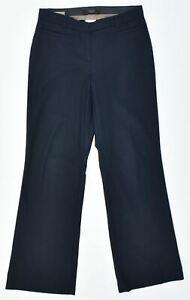 MAX MARA Womens Casual Trousers UK 6 XS W28 L31 Navy Blue Wool Straight GZ06