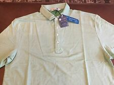 Travis Mathew men's heather kelly green polo shirt, size L, NWT, MSRP $85.00