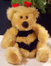 Russ Berrie Breezy Bear Plush Stuffed Animal Bumble Bee Hearts Valentines Wings