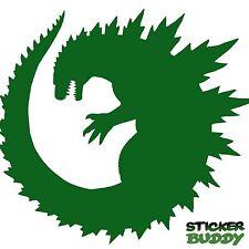 "5.5"" Godzilla Vinyl Decal Car Window Sticker Monster Horror Creature Green"