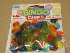 150 Bingo Chips - 150 Colorful Chips per Bag for BINGO Parties - FREE SHIP