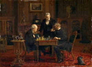 Thomas Eakins The Chess Players Giclee Art Paper Print Poster Reproduction