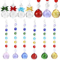 Crystal Suncatcher Hanging Pendant Wedding Ornament Handmade Decor Rainbow Prism
