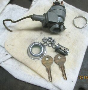 Push Button PACKARD Complete Ignition Switch Clean & Tested Late 40's Early 50's