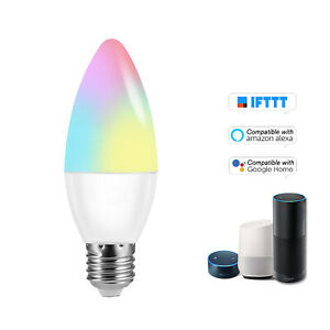 V16-C     RGB+W  Candle  6W E26 Dimmable Light  T3A9