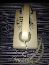 Vintage Bell Systems/Western Electric Rotary Wall Phone 554- Almond & Ivory - VG