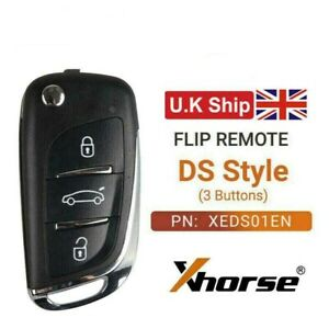 Xhorse Wireless Universal Super Remote Key DS Type 3 Buttons XEDS01EN for VVDI2