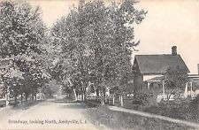 1911 Homes Broadway looking North Amityville LI NY post card