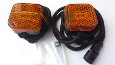2x Amber 4LED Side Marker Lamps Light for MAN TGA TGL TGM TGS TGX (2000-2013) E9