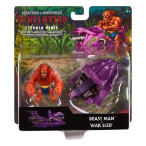 BEAST MAN WAR SLED Masters of the Universe Revelation MotU Eternia Minis 2 Pack