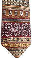 "Roundtree & Yorke Men's Silk Tie 58"" X 4"" Multi-Color Geometric/Horiz. Striped"