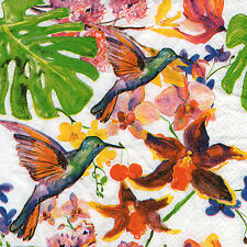 4 Motivservietten Servietten Napkins Tovaglioli Fantasie Vogel Vögel (145)