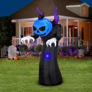 Halloween Airblown Inflatable Creeper Reaper LED 6 FT Yard Decor