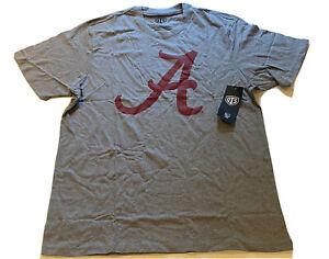 OTS NCAA Vintage Alabama Crimson Tide A Logo T-shirt Mens 2XL Gray Football