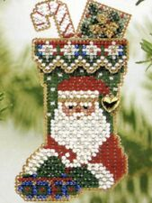 St Nick Stocking Beaded Ornament Kit Mill Hill 2004 Charmed Stockings