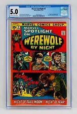 Marvel Spotlight #2 CGC 5.0 First Werewolf by Night Appearance 1st App Key Grail