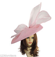 Candy Pink Large Ascot Hat for Weddings, Ascot, Derby B7