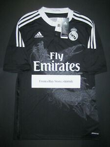 2014-2015 Adidas Real Madrid Yohji Yamamoto Black Third Jersey Shirt Dragon Y-3
