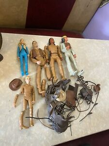Vtg Johnny West Indian western louis marx action figures Doll Accessory toys lot