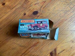 matchbox superfast Cj6 Jeep N 53 la boite vide  vintage