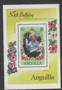 ANGUILLA #622 1985 QUEEN MOTHER 85TH BIRTHDAY MINT VF NH O.G S/S
