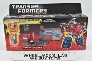 Powermaster Optimus Prime NR MINT FIG MIB Complete 1988 Vintage G1 Transformers