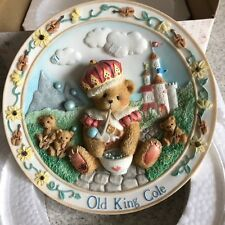 CHERISHED TEDDIES BEAR OLD KING COLE WALL PLATE BOXED WITH CERTIFICATE
